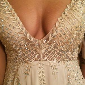 e0aa80cd120 GB Dresses - GB Social V-Neck Crystal Beaded Ballgown